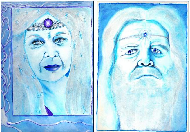 La Reine et le Roi de l'Hinver-portraits de saison.